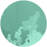 Maine state senate political district map