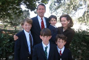 Mark Sanford and his family before a wave of destruction
