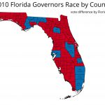 How will the 2014 Florida Governor's Map Change from 2010?