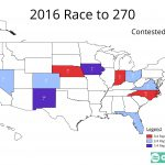 2016 Presidential Map contested states
