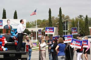 Jake-speech-crowd in Alachua
